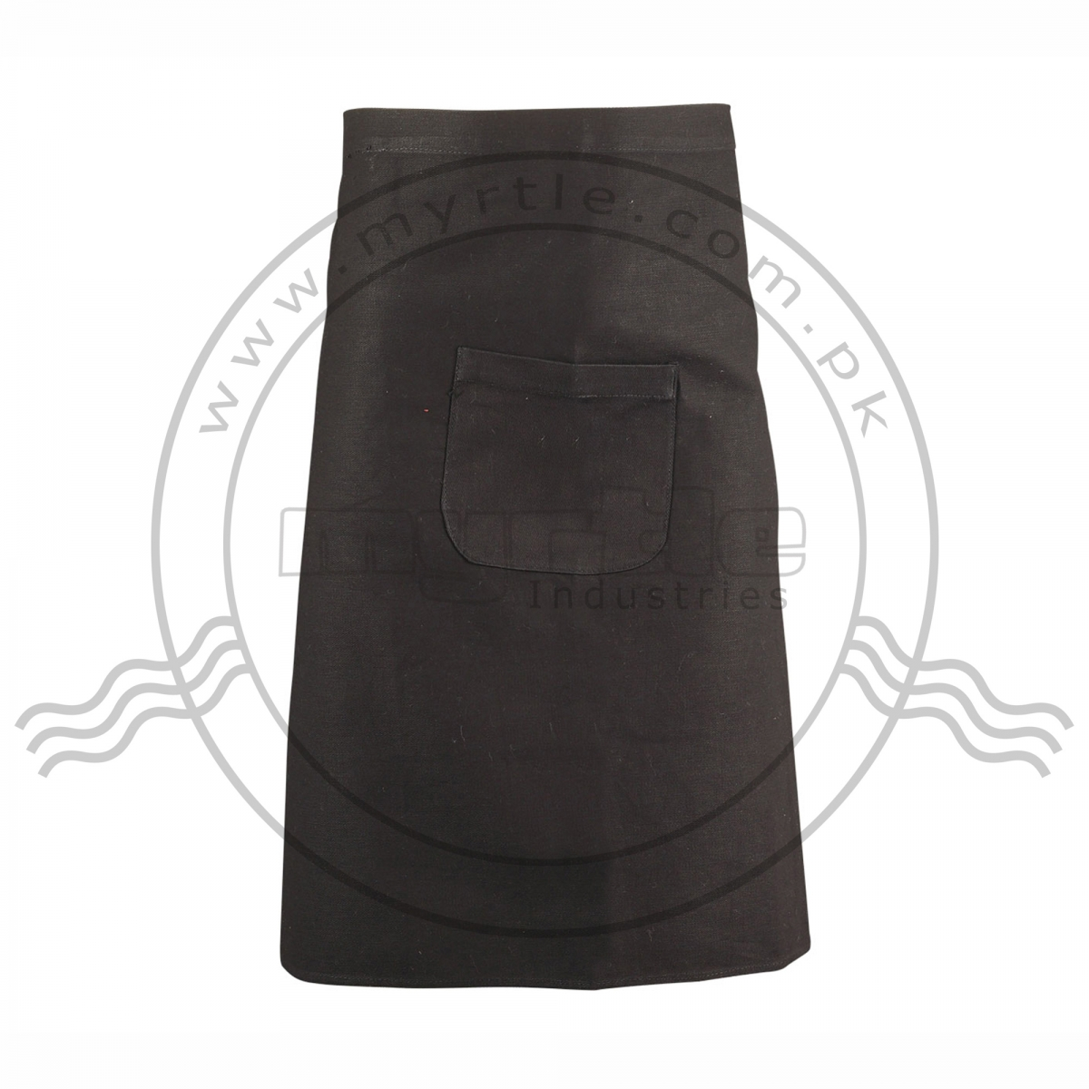 WAIST APRON BLACK WITH ONE POCKET