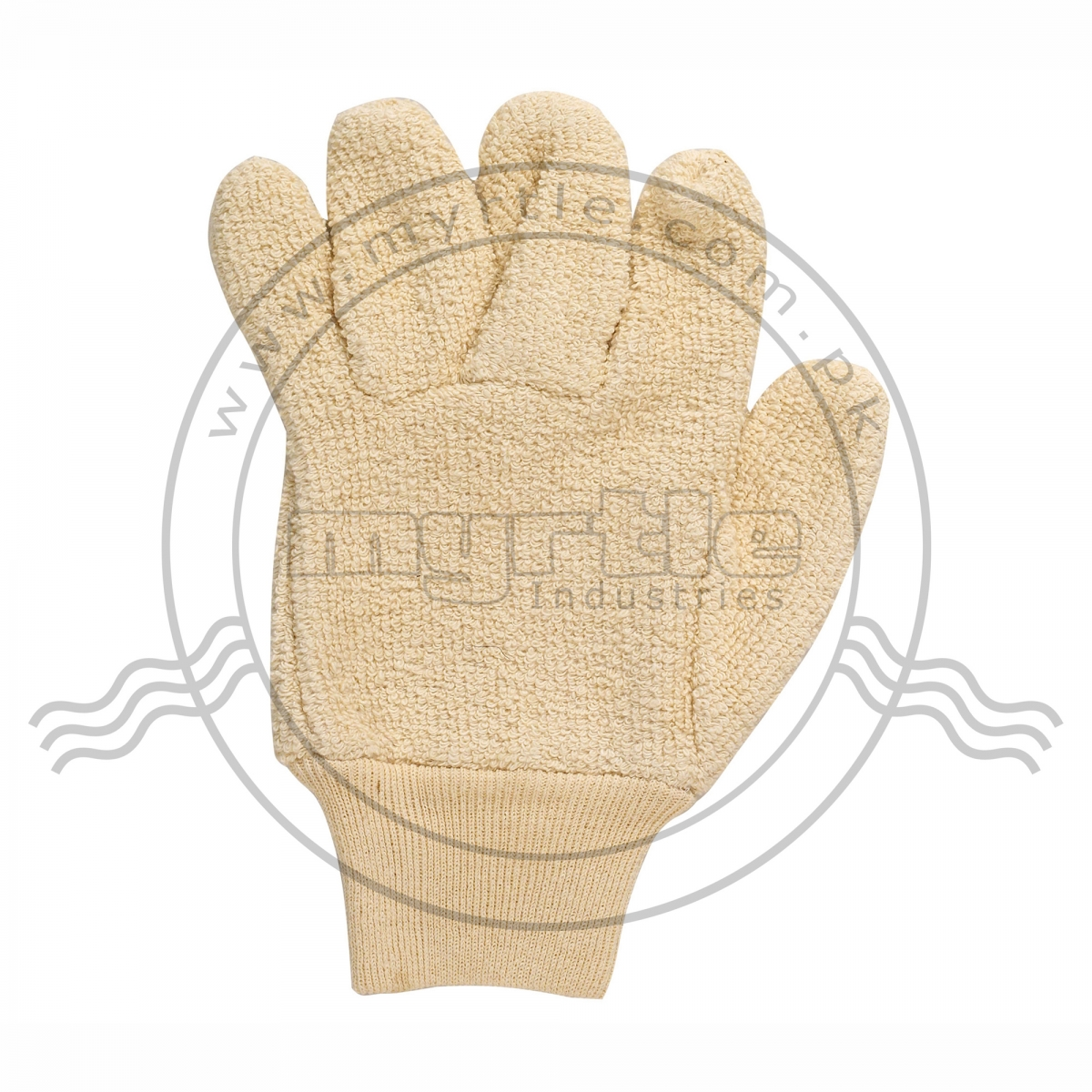 TERRY GLOVES WITH ELASTIC CUFF