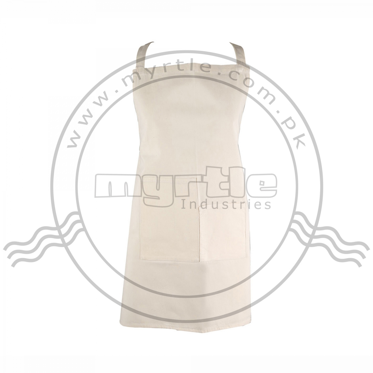 CANVAS BIB APRON WITH TWO POCKETS